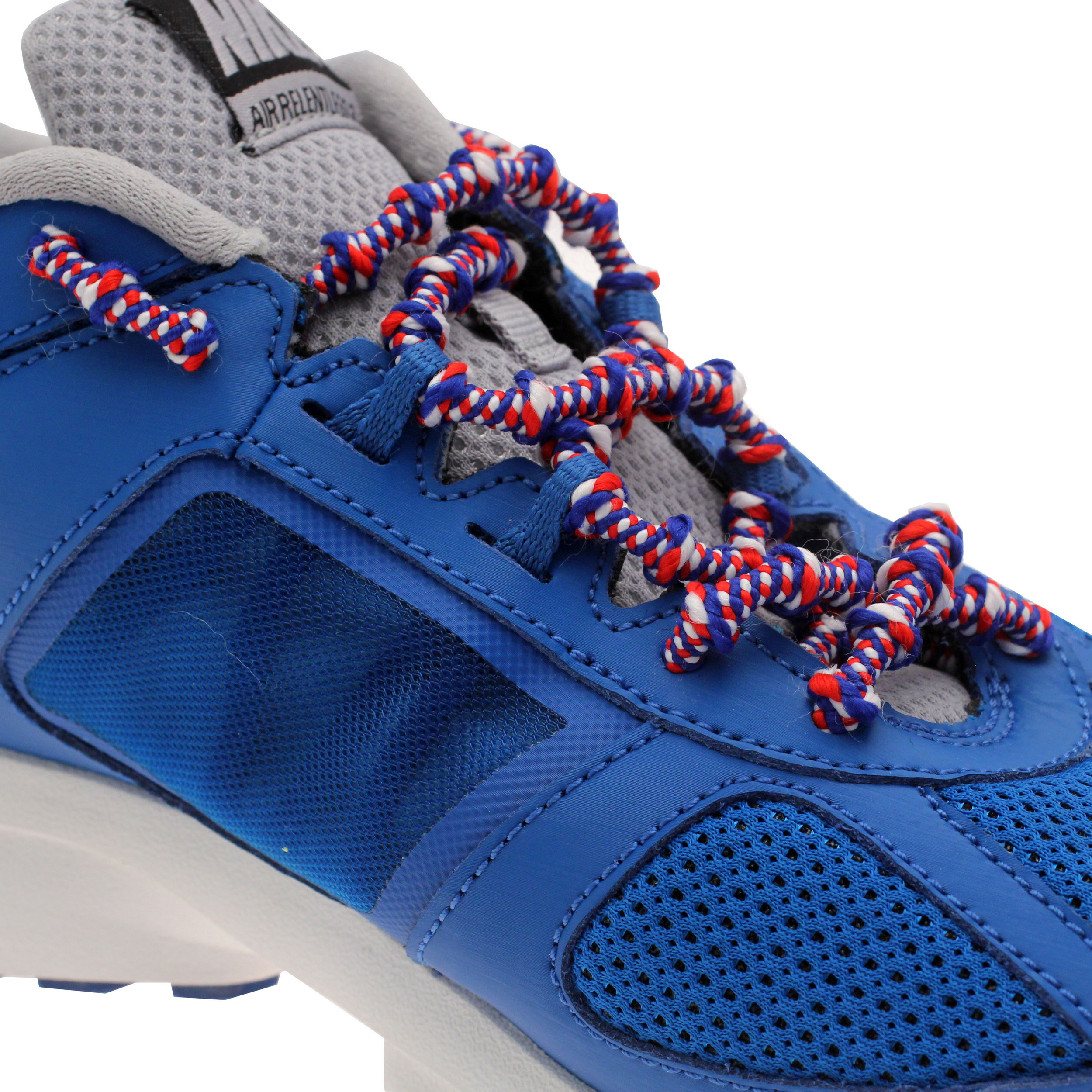 Xtenex Auto Locking Laces Mens Womens Shoe Blue White Red