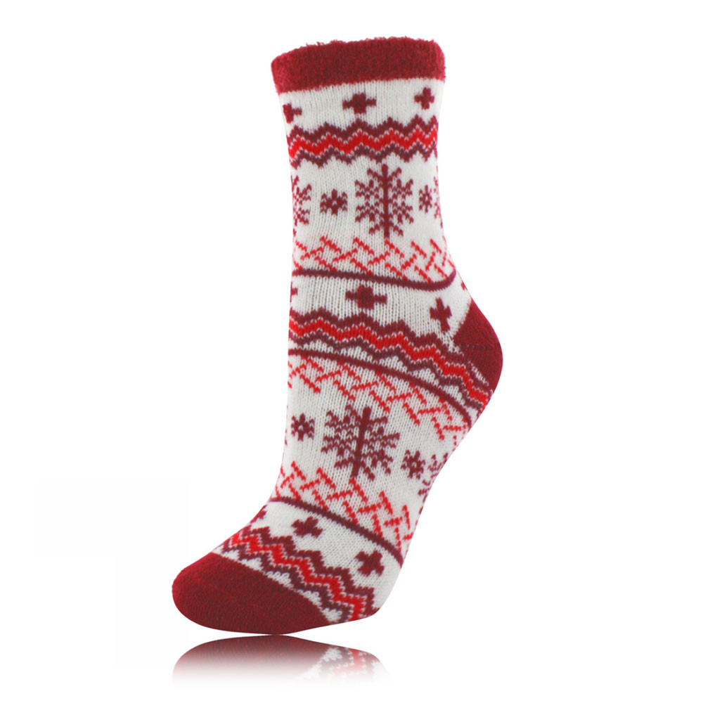 Yaktrax cabin mens red insulated outdoor warm ankle mid for Warm cabin socks